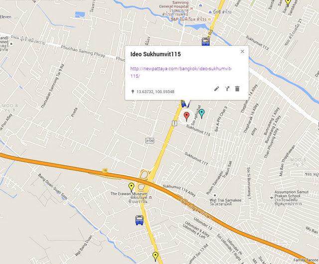 IDEO Sukhumvit 115 Map