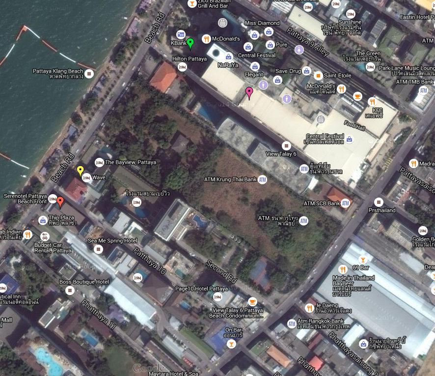 Kantary Pattaya Map