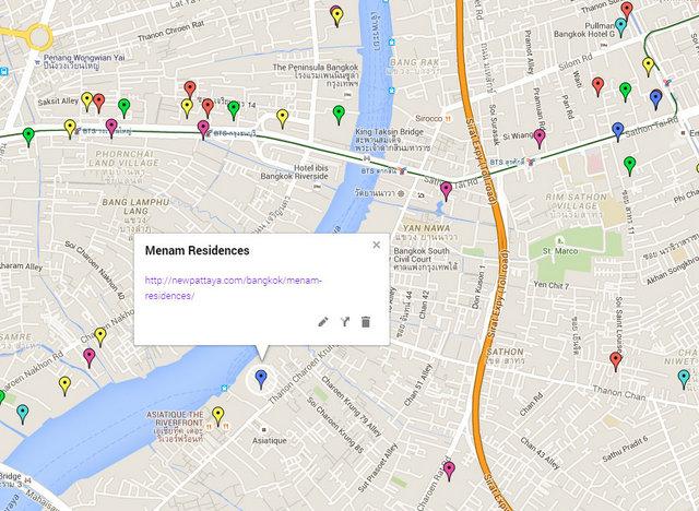 Menam Residences Map