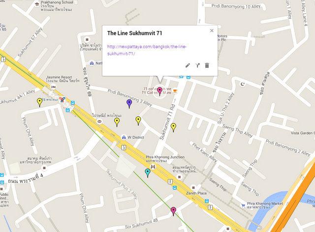 The Line Sukhumvit 71 Map