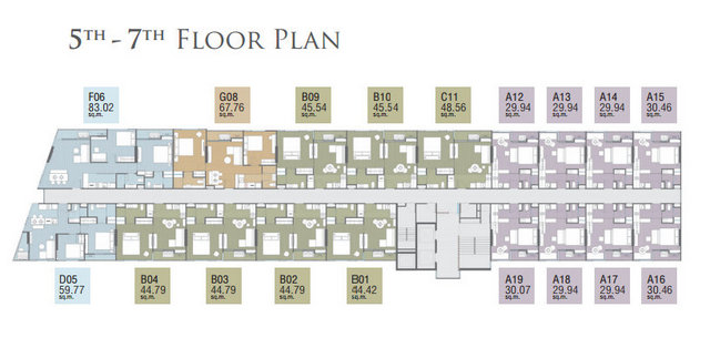 The Pazer Pattaya Floor plan 01