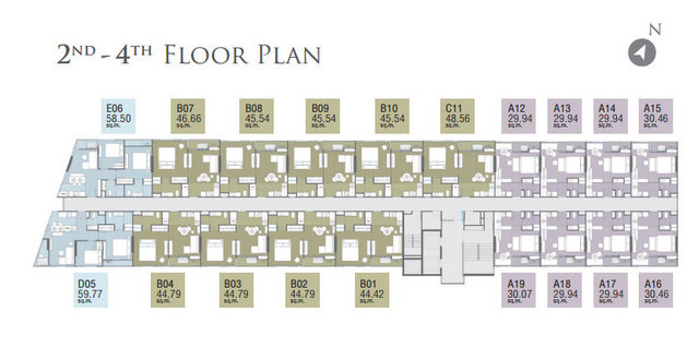 The Pazer Pattaya Floor plan