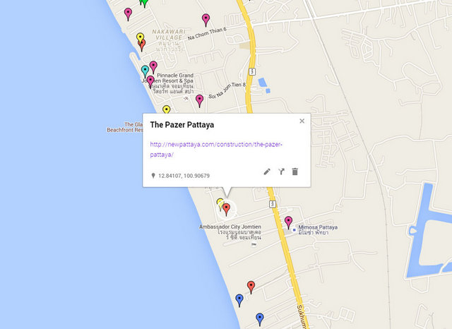 The Pazer Pattaya Map