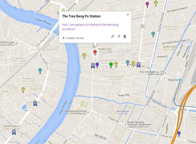 The Tree Bang Po Station Map