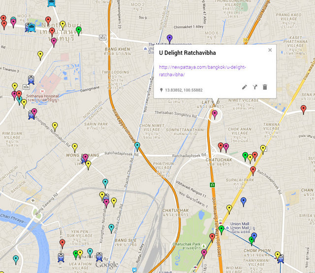 U Delight Ratchavibha Map