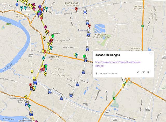 Aspace Me Bangna Map