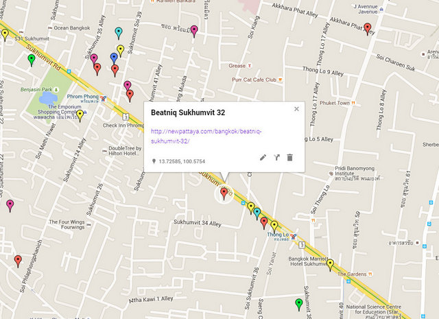 Beatniq Sukhumvit 32 Map