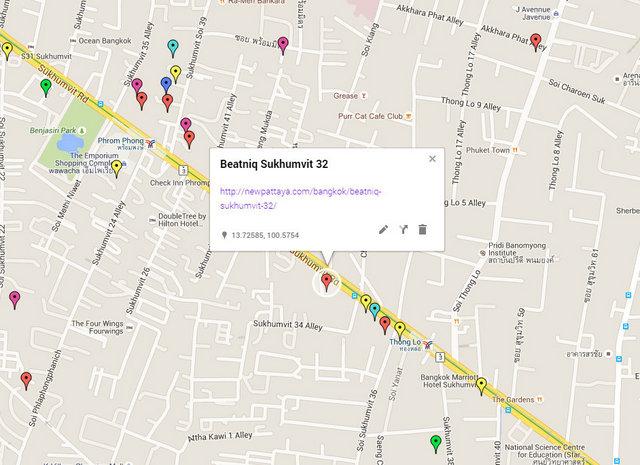 Beatniq Sukhumvit 32 Map