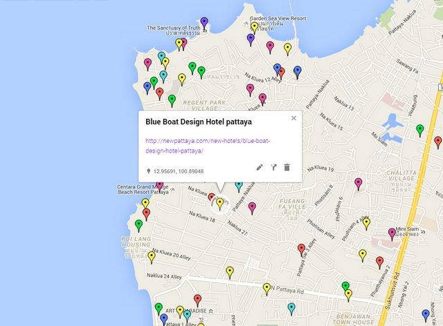 Blue Boat Design Hotel Map