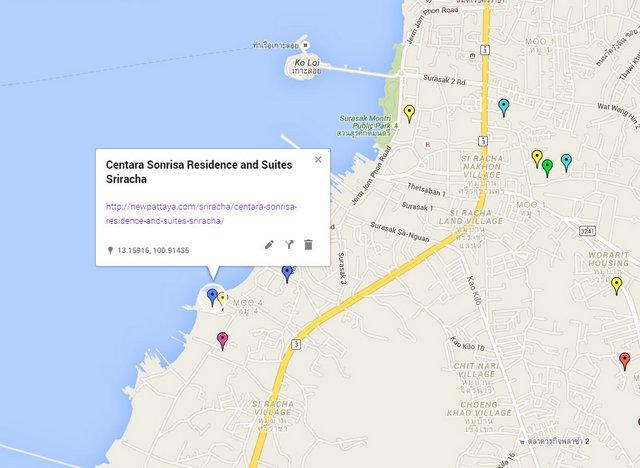 Centara Sonrisa Residence and Suites Sriracha Map
