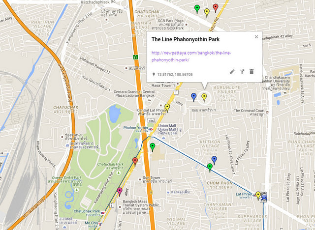 The Line Phahonyothin Park Map