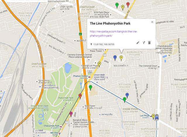 The Line Phahonyothin Park Map