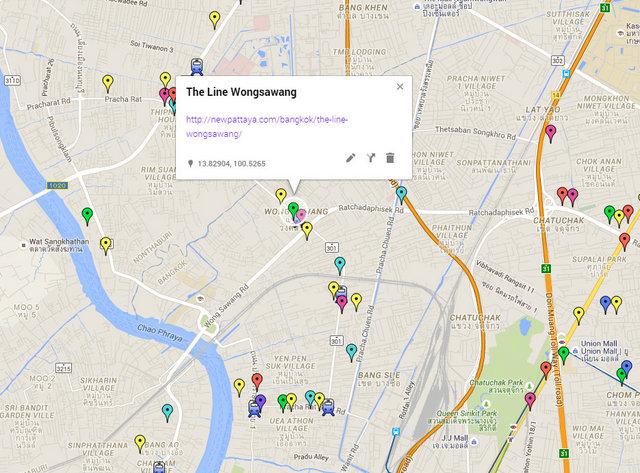 The Line Wongsawang Map