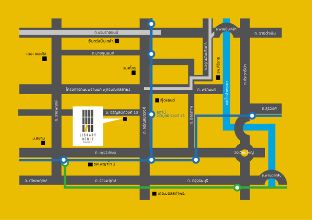 Library Houze Charan 13 Map