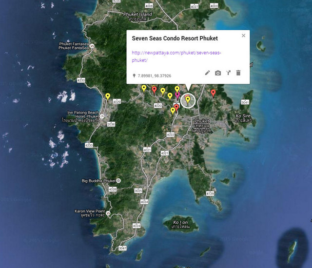 Seven Seas Condo Resort Phuket Map