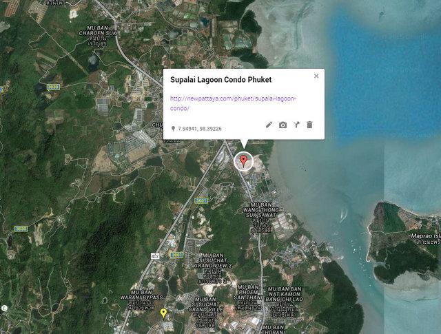 Supalai Lagoon Condo Phuket Map 01