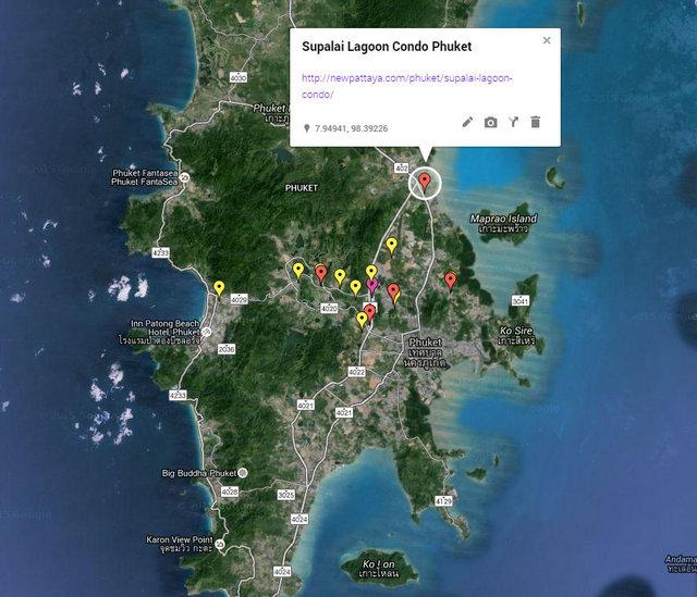 Supalai Lagoon Condo Phuket Map