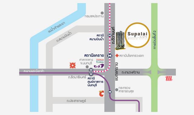 Supalai Loft Khaerai Station Map
