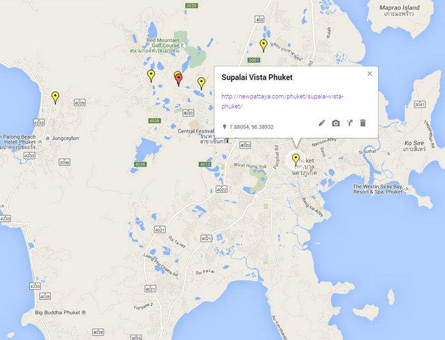 Supalai Vista Phuket Map