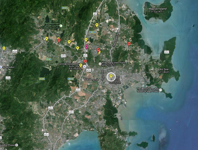 Supalai Vista Phuket Map
