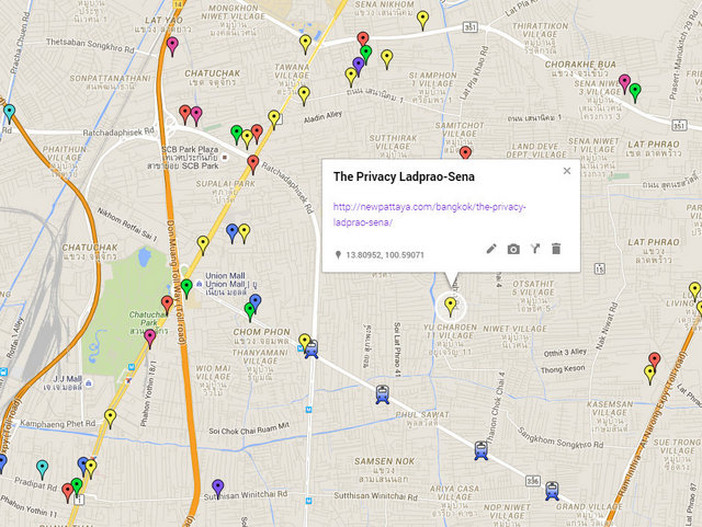 The Privacy Ladprao Sena Map