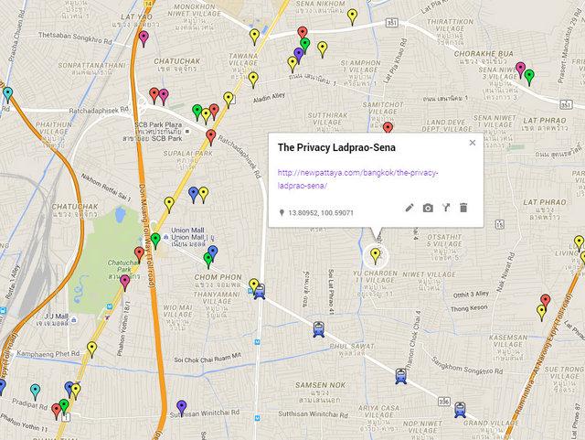The Privacy Ladprao Sena Map
