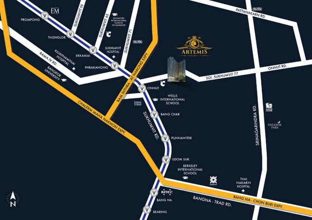 Artemis Sukhumvit 77 Map