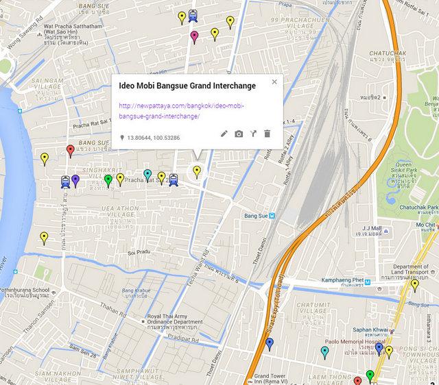 Ideo Mobi Bangsue Grand Interchange Map