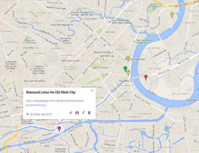 Diamond Lotus Ho Chi Minh City Map