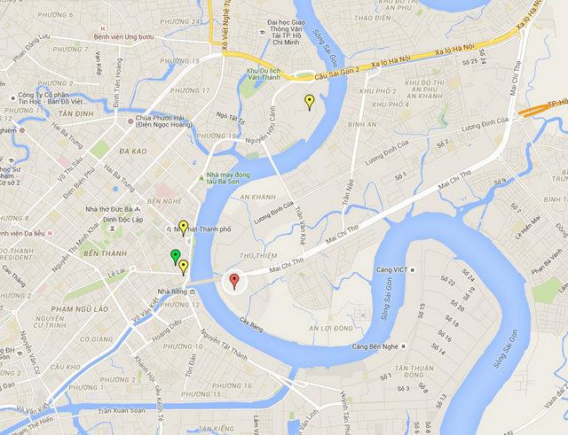 Empire City Tower Vietnam Map