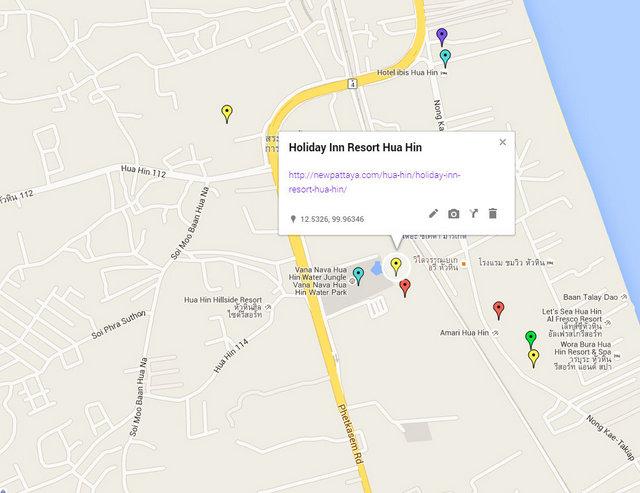 Holiday Inn Resort Hua Hin Map
