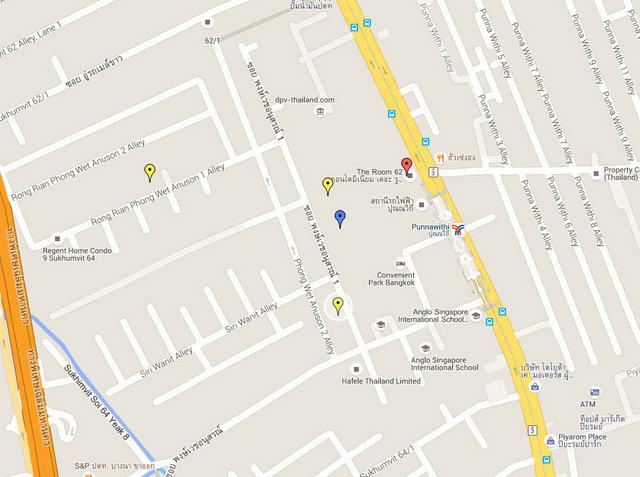 Moniiq Sukhumvit 64 Map
