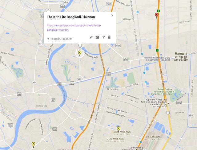 The Kith Lite Bangkadi-Tiwanon Map