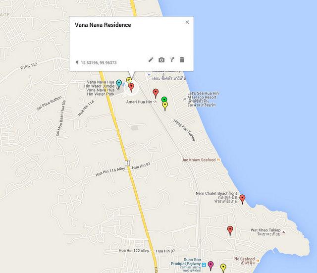 Vana Nava Residence Map