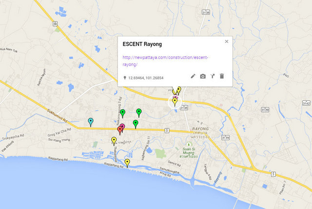 Escent Rayong Map