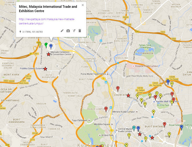 New Matrade Kuala Lumpur Map