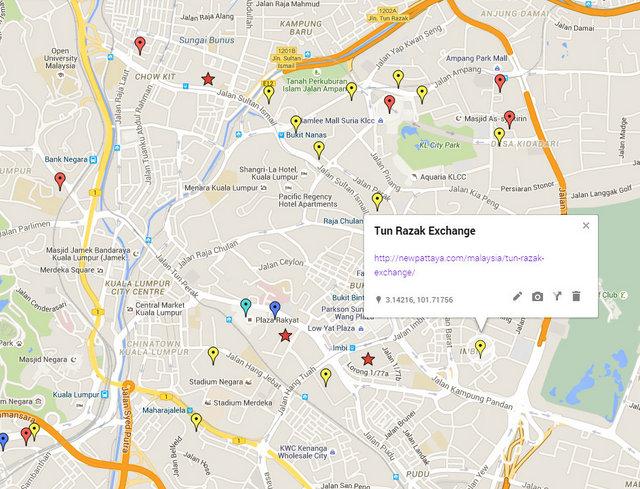 Tun Razak Exchange Map