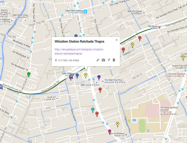 Whizdom Station Ratchada Thapra Map