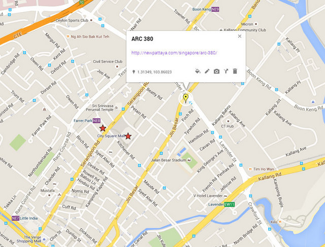 ARC 380 Map