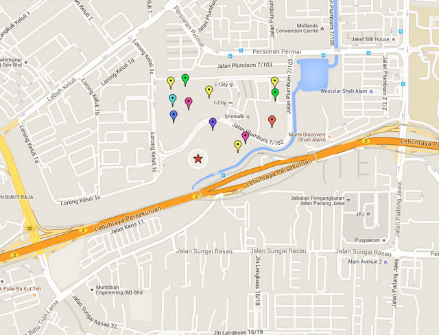 Central i-City Map