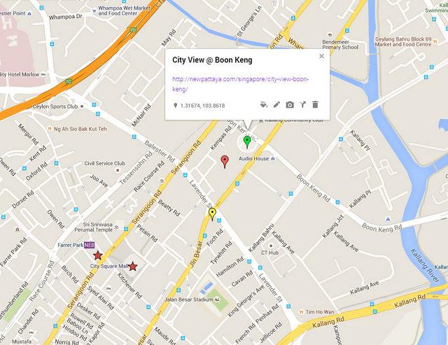 City View Boon Keng Map