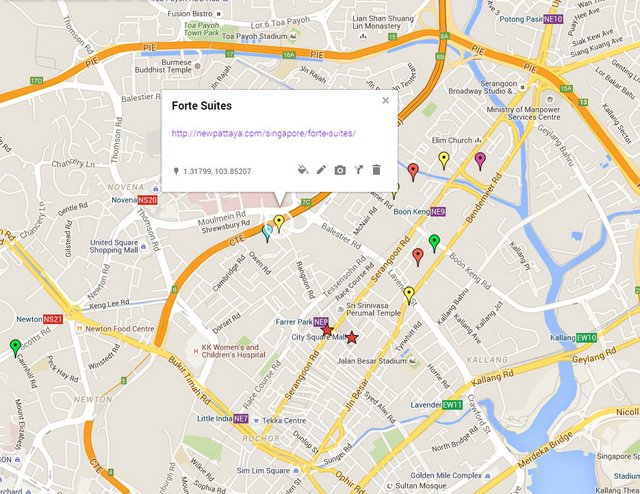 Forte Suites Map