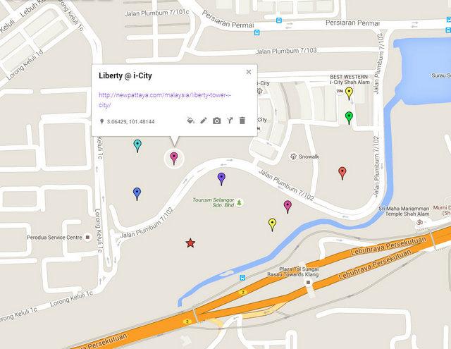 Liberty @ i-City Map