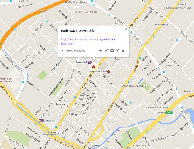 Park Hotel Farrer Park Map