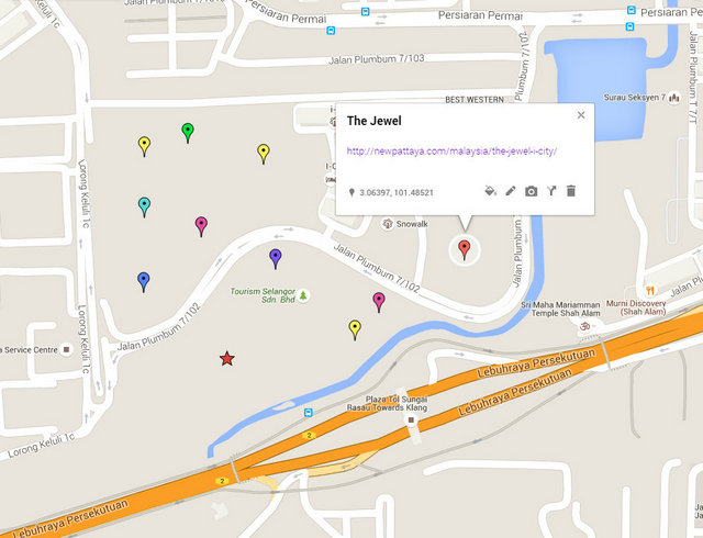 The Jewel @ i-City Map