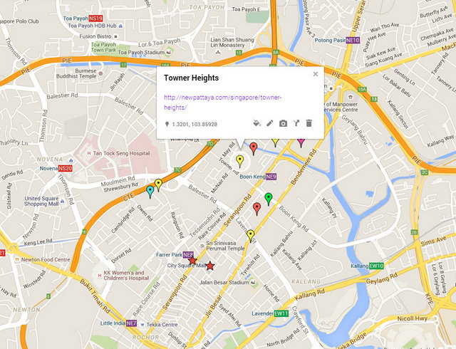 Towner Heights Map