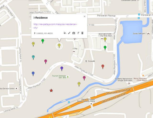 i-Residence @ i-City Map