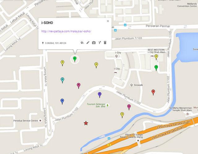 i-SOHO @ i-City Map