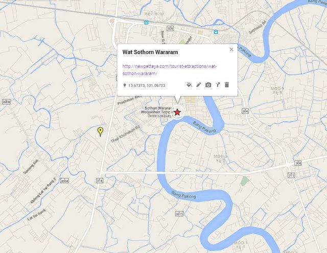 Wat Sothorn Temple Map
