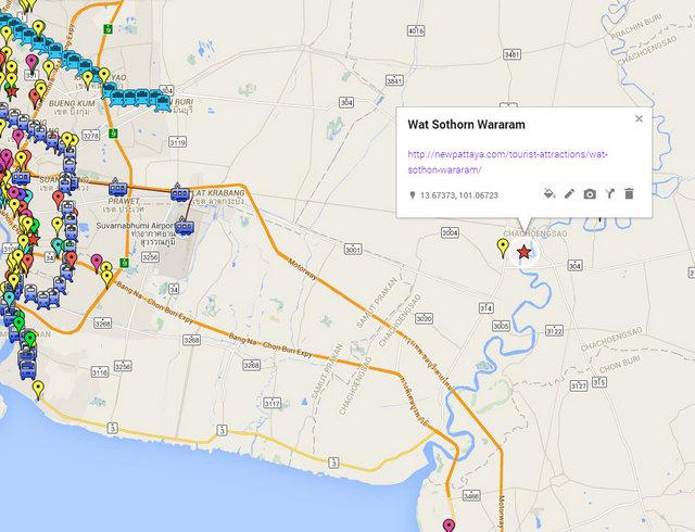 Wat Sothorn Wararam Map